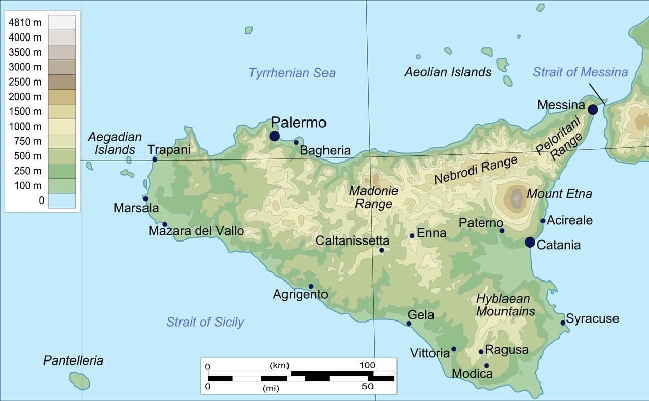 Photo Le plan d'un itinéraire touristique pour visiter la Sicile