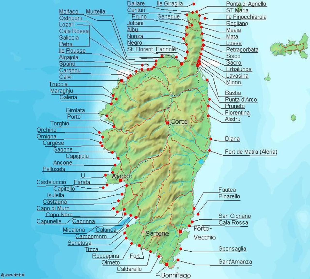 carte-de-corse-touristique - Photos