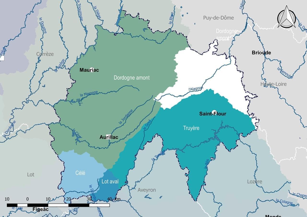Photo Carte touristique Cantal. Découvrir les sites d'intérêt touristique