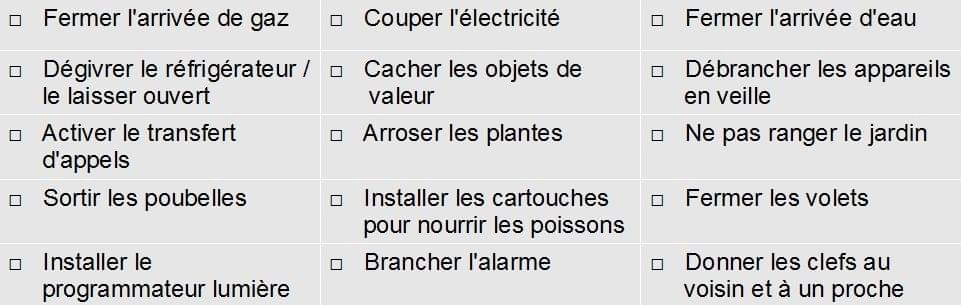 check list securiser maison