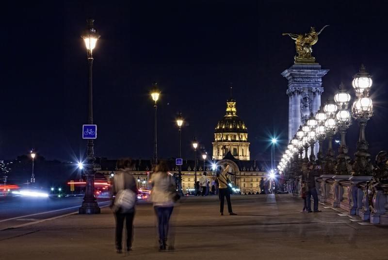 L'Esplanade des Invalides de nuit
