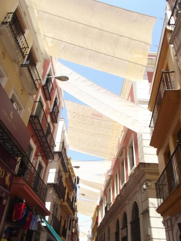 Calle Sierpes, Seville - canopies