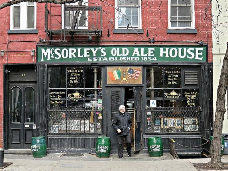 McSorley's Old Ale House, 15 East 7th Street, in New York City's East Village.