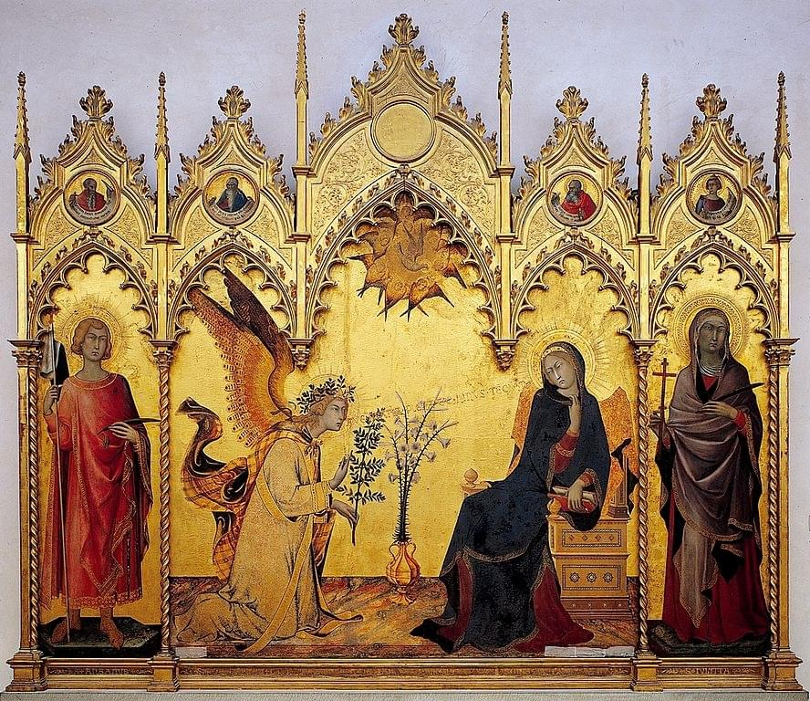 L'Annonciation de Simone Martini