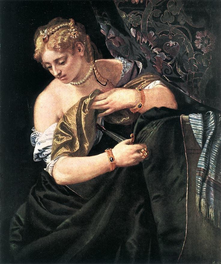 La mort de Lucrèce par Véronèse