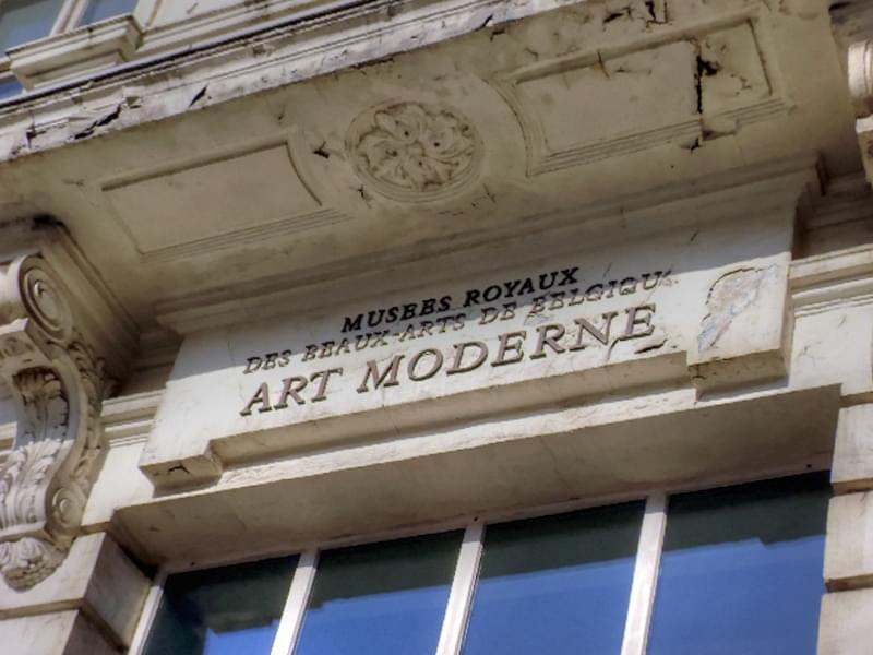 L'entrée au musée d'art ancien de Bruxelles