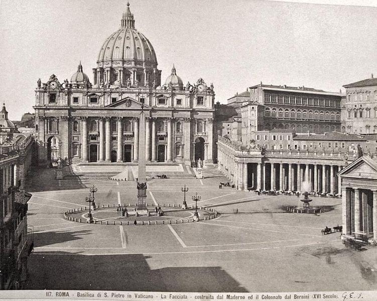 The history of St. Peter's Square