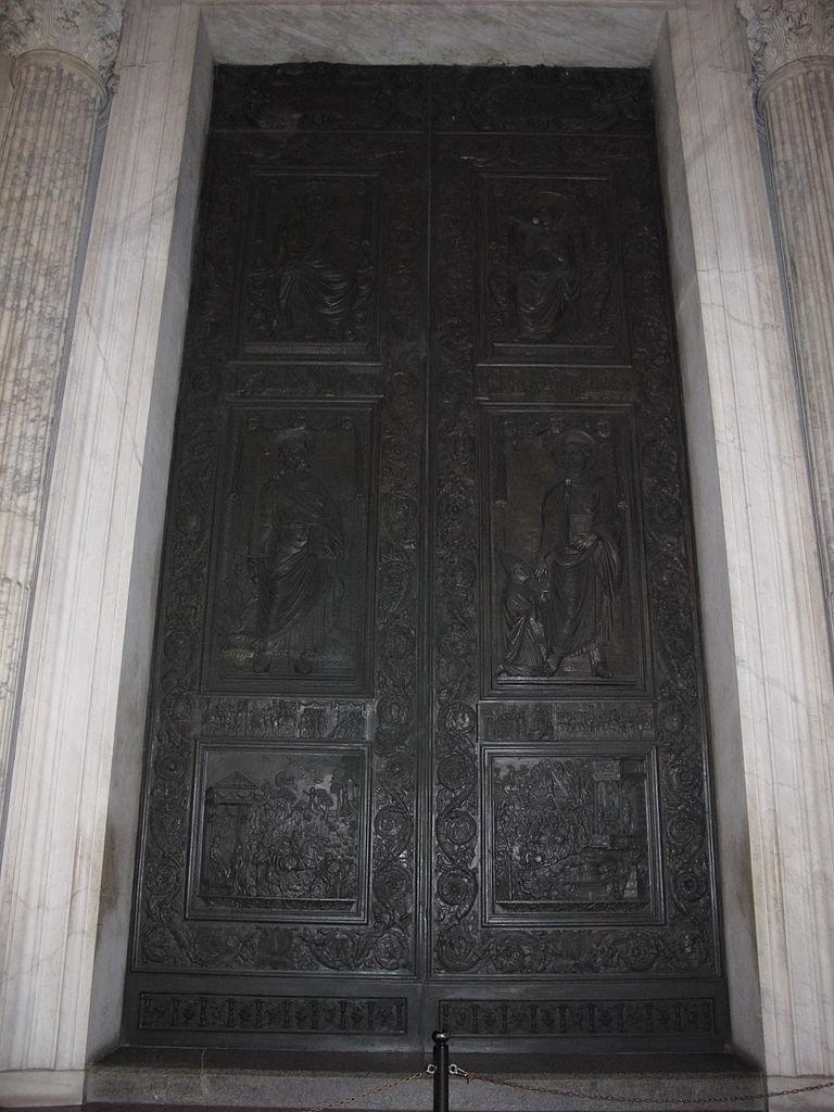 The doors of the basilica