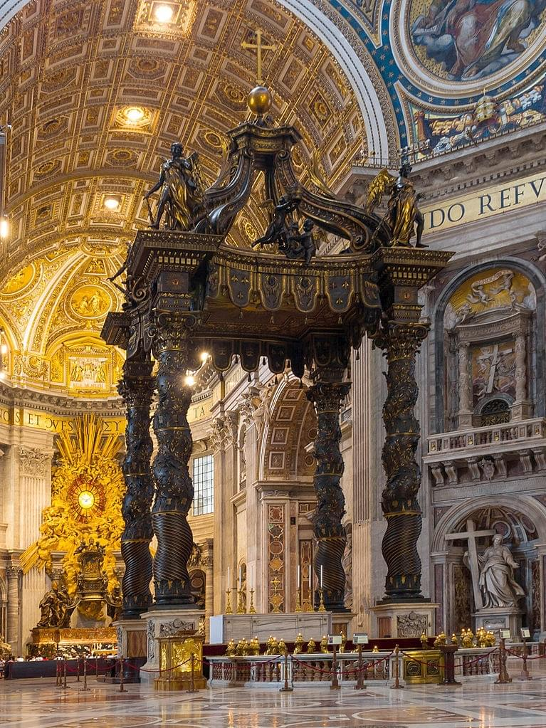 The works of the famous Bernini