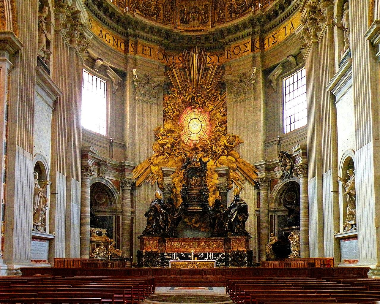 The cathedra Petri: the seat of St. Peter