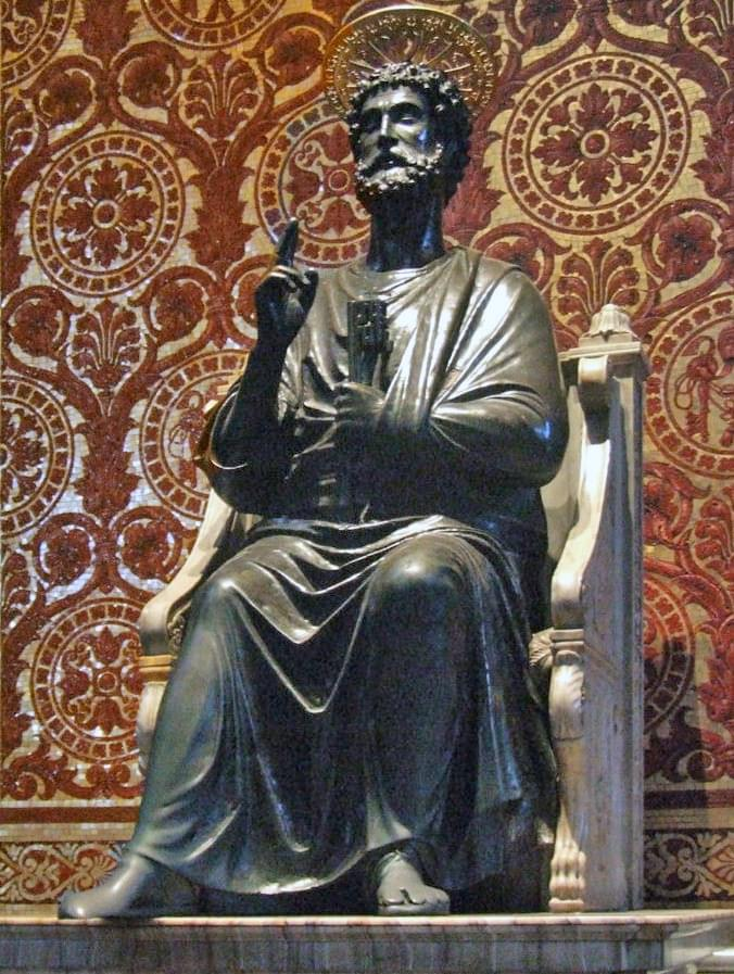 The bronze statue of St. Peter