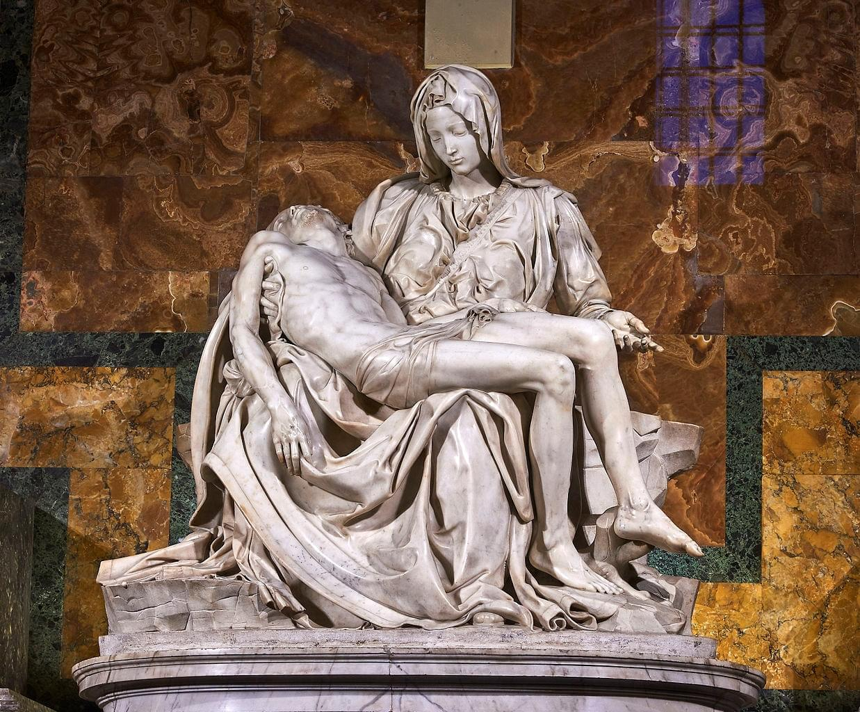 La Pieta: the work of Michelangelo
