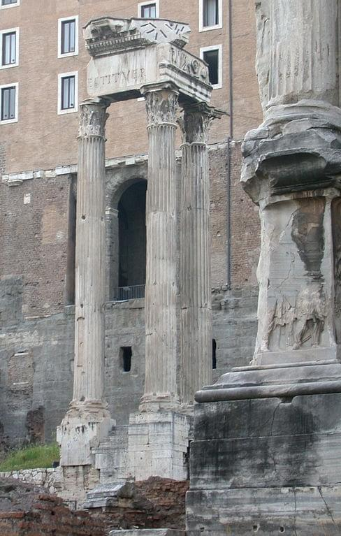 The Temple of Emperor Vespasian and his son Titus