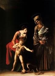 Madonna and Child with St. Anne-Caravaggio (c. 1605-6)