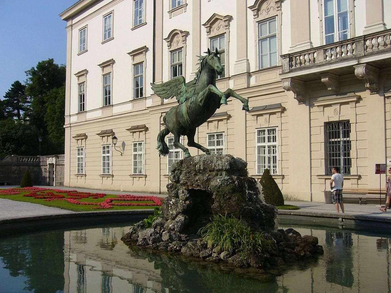 The winged horse of the fountain