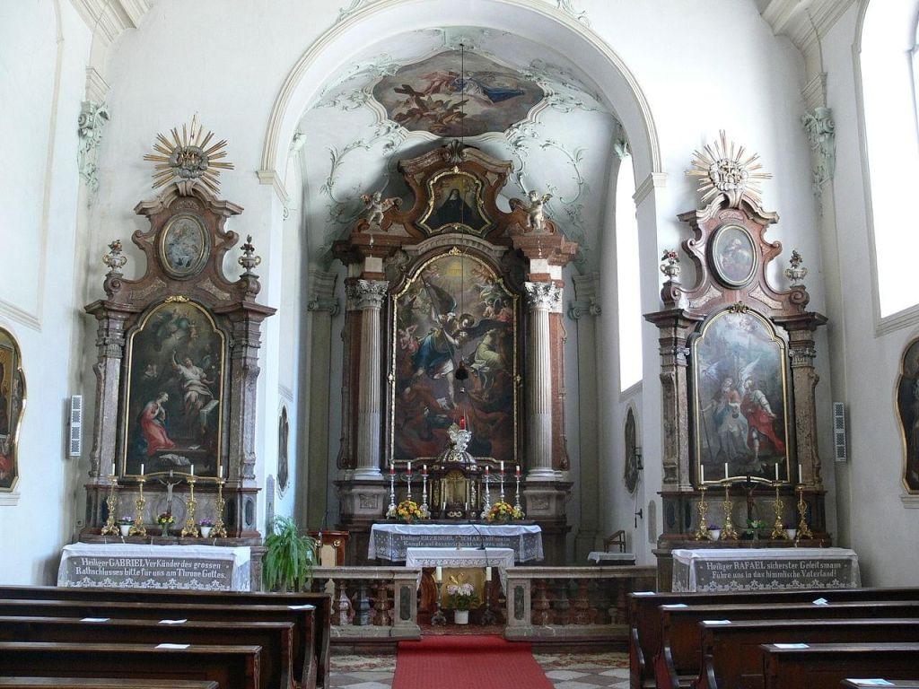 The church's rococo decoration