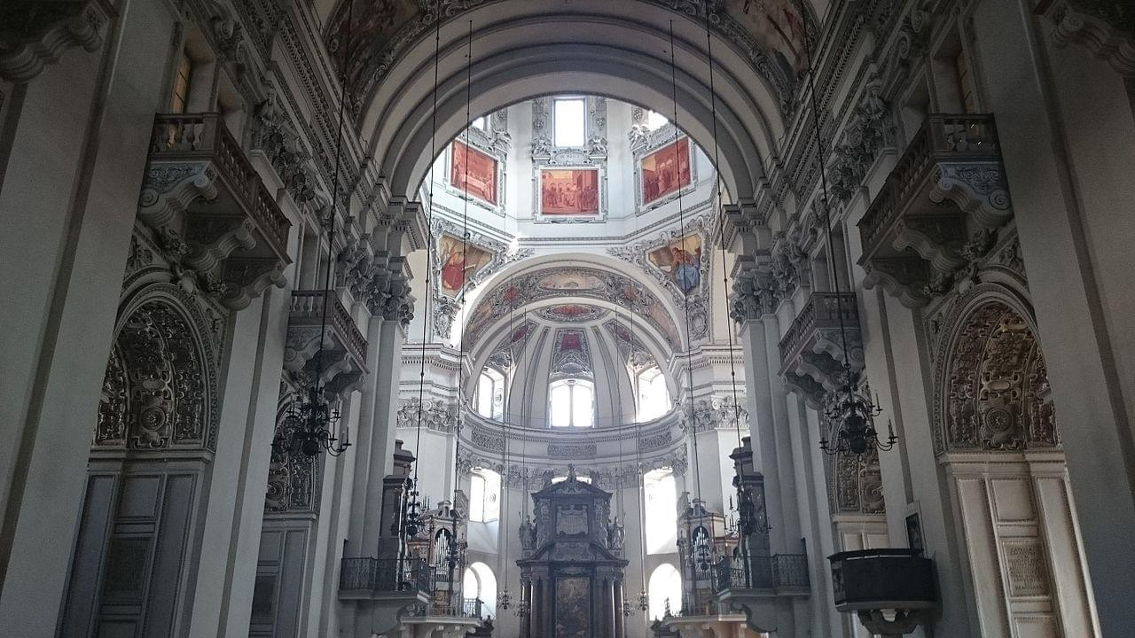 The nave of the cathedral
