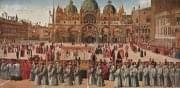 Gentile Bellini - Procession in St. Mark's Square (Galleria dell'Accademia, Venice)