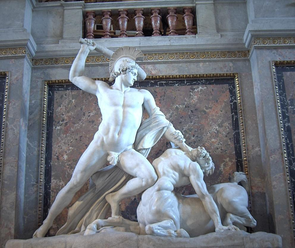 Photo Canova - Theseus defeats the centaur - close