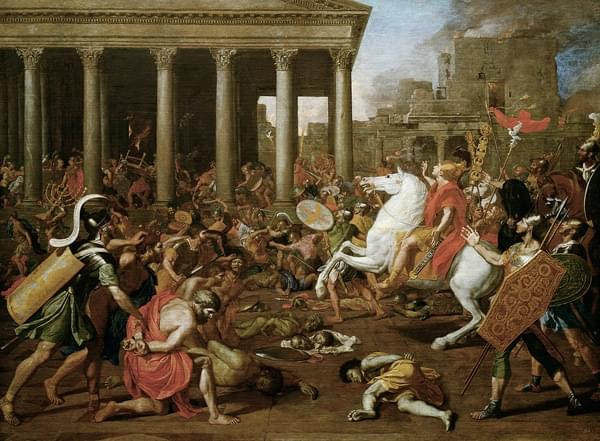 The Conquest of Jerusalem by Emperor Titus by Nicolas Poussin