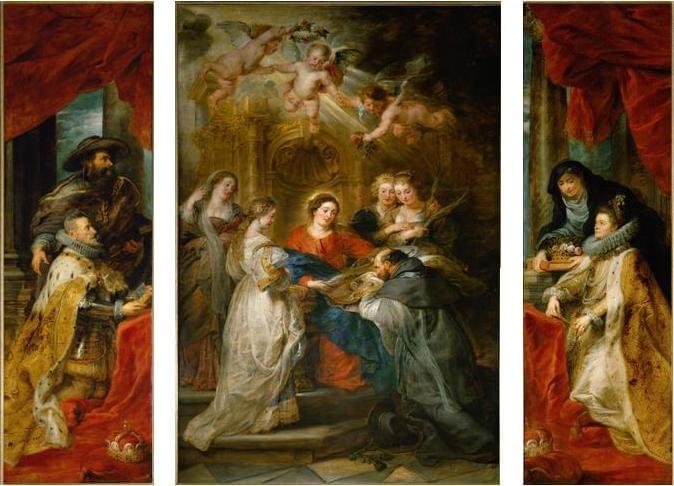 The Ildefonso Altarpiece by Rubens