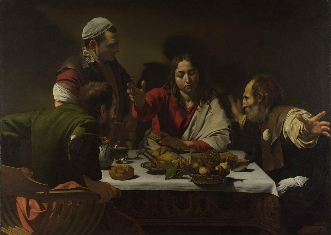 Photo 1602-3 Caravaggio,Supper at Emmaus National Gallery, London