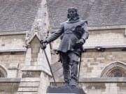 Statue of Oliver Cromwell outside the Palace of Westminster