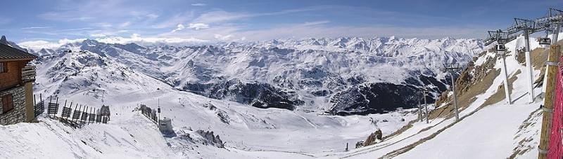 View towards Meribel from Roc des Trois Marches, France (2006)