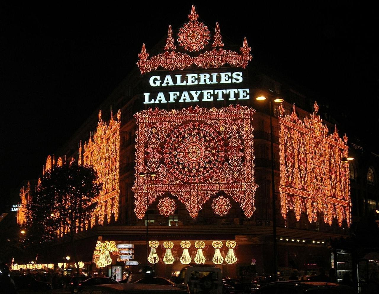 plan les galeries lafayette sur la carte de paris. Black Bedroom Furniture Sets. Home Design Ideas