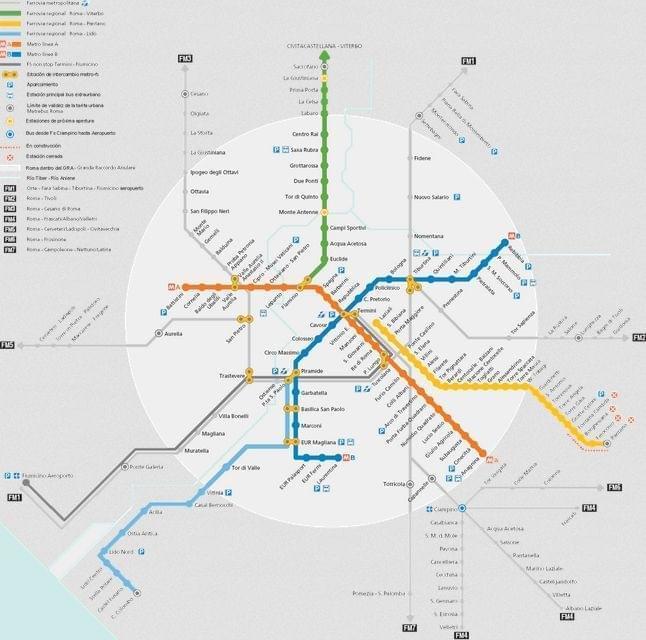 Carte de Rome : Plan touristique Rome