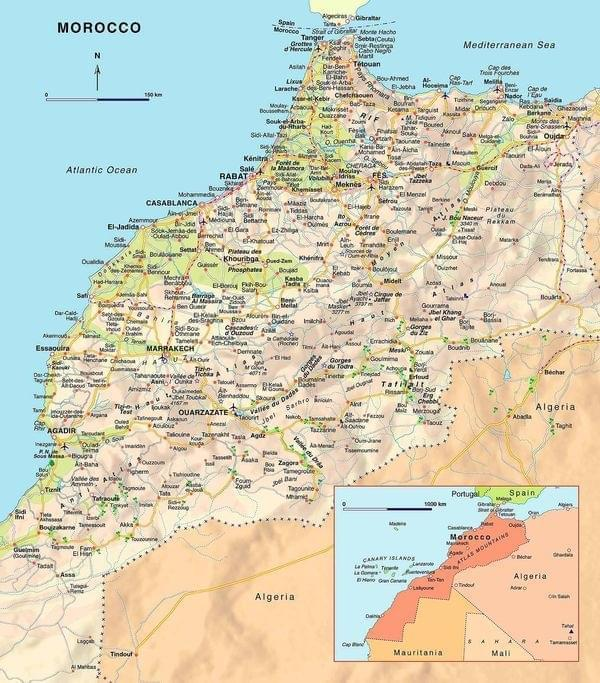 Maroc Map Image Gallery HCPR