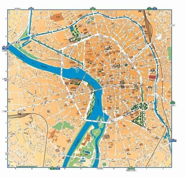 Carte de toulouse plan touristique toulouse for Hotel design toulouse centre ville
