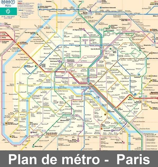 plan de paris touristique - Photo
