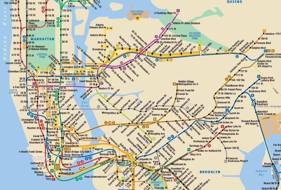 Carte de New York City : Plan touristique New York