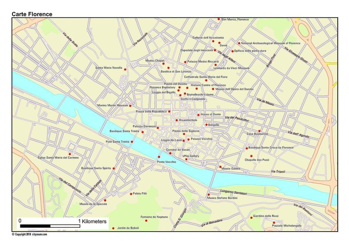 carte touristique de rome pdf