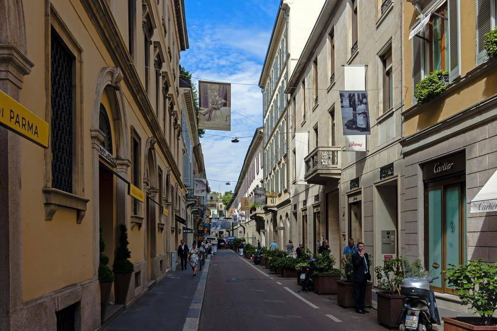 Photo Le quartier du Quadrilatère de la Mode à Milan