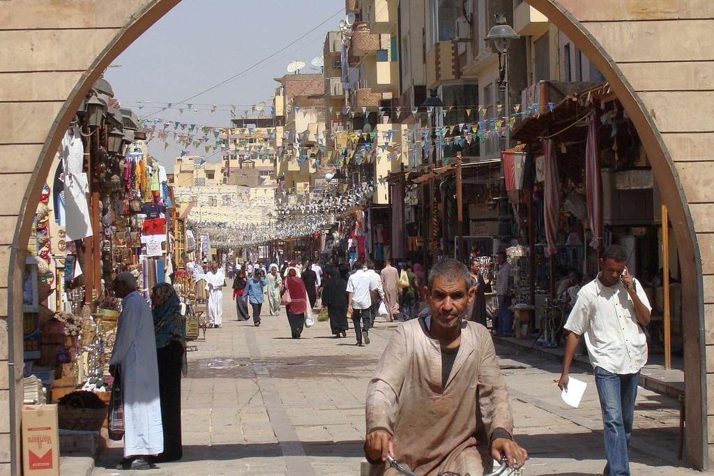 Photo Promenade au souk de la ville d'Assouan : un souk touristique en Egypte
