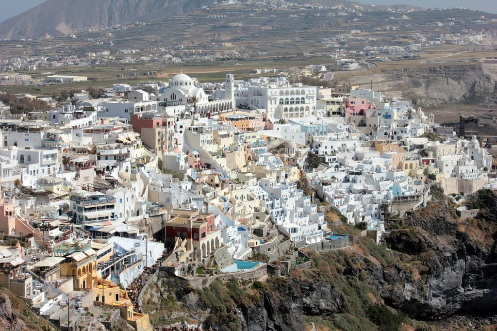 Photo Fira (Thira, ou Théra), la capitale de Santorin