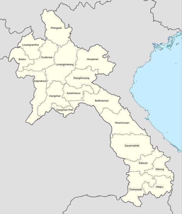 Photo Carte Laos. Préparer votre circuit!